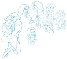 OUaT doodles- Rumbelle by Miskantle