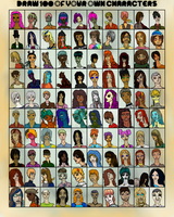 The Faces of a Hundred Characters by Dreamsickdev