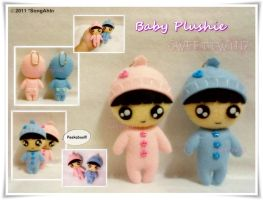 Baby Twin Plushie... by SongAhIn