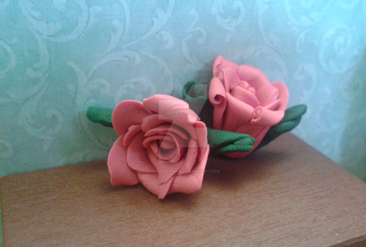 Sweet Roses (Polymer Clay) by PoppetPanda