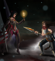 Secret Santa: Fiora x Talon by existence111