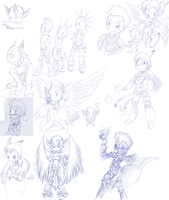 gift sketches page by Sony-Shock