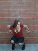 red and black full body 5 by PhoeebStock