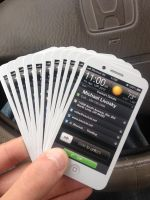 Iphone Business Card White iRevival by CaCaDoo