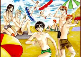 HP_summer boys_ by Rusneko