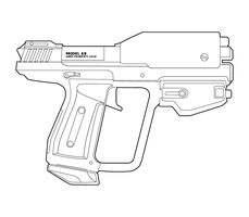 Halo M6G B-Type Lineart by MasterChiefFox