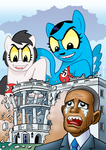 Giant Pony Attack On White House by curtsibling