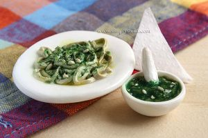 Linguine al pesto - Miniature by thinkpastel