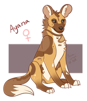 African Wild Dog (F)  - Ayana by Pastel-Circus