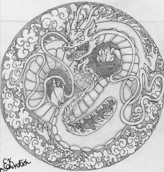Chinese Dragon Stepping Stone Design by MsChapstick