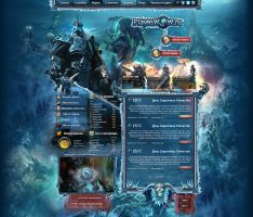 World of warcraft site ''Play in Wow'' by DattaDesign