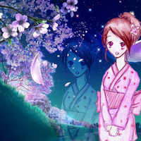 Among The Cherry Blossoms by Rey-Of-Sunlight