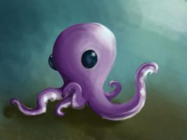 Purple Octopus by ipsiepixie