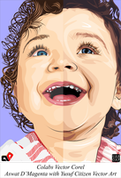 LAUGH IT UP      My collaboration vector by Yusuf-Graphicoholic