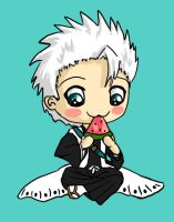 Hitsugaya and his Watermelon by IcyPanther1