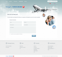 Airline Tickets Contact Design by emrah-demirag