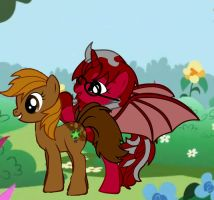 Bro Lady and GD as Ponys by GurRaeye