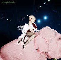 Marilyn Monroe and the pink elephant by klimbims