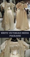 White Victorian Dress Package by Avestra-Stock