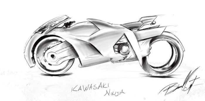 Kawaskai Sketch by Birmelini