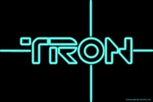 Tron Legacy / Uprising Glowing Wallpaper by gamera68