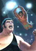 Andre the Giant vs Ultimate Warrior by Habjan81