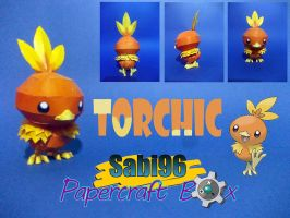 Torchic Papercraft by Sabi996