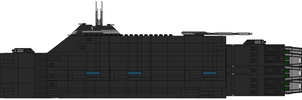 Battle IV class Combat Cargo Carrier by captainIronstar