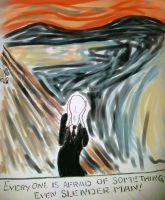 Slender man (picasso style) by Purple-Dragonfly-Art