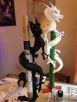 Dragons ying yang papercraft by enigmael