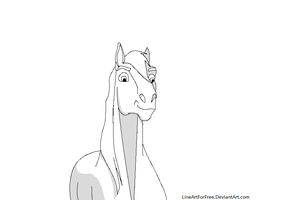 Free Horse LineArt 2 by LineArtForFree