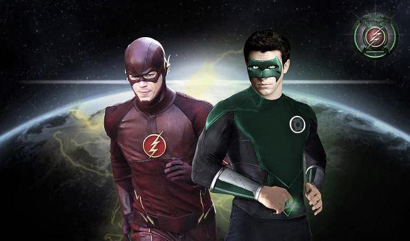 Flash/ Green Lantern Poster by Rated-R4-Ryan