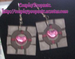 Companion Cube PORTAL Earrings by CosplayPropsEtc