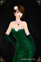 Seidra Shepard in a Green Dress by LadyIlona1984