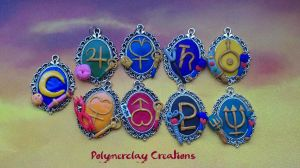 More Sailor-pendants by PolymerclayCreations