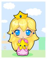 Princess Peach Chibi by TiffanySketches