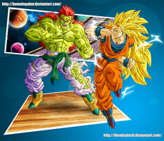 GokuSSJ3 vs Bojack form2 by HomolaGabor