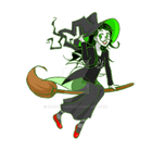 Spoopy Witch Jade! :DD [GIF] by roona-chan