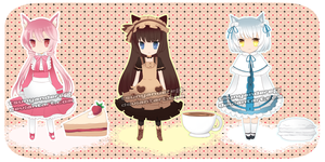 Sweets Themed Adoptables [CLOSED] by tsunyandere
