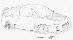 Commission Rough (Toyota Supra) FREE by Shirowe