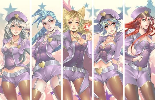 Lol Popstar girls by Azu-Chan