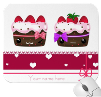 Kawaii cakes mousepad by tho-be