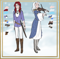 Laine and Katrin reference by Ocrienna