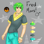 Adoptable Commission - Fred Mars by Kozekito