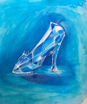 Inktober 2-Glass Slipper by cruxio