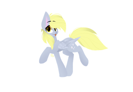 Derpy Hooves -Lineless- 2... by SusiSunshine2004