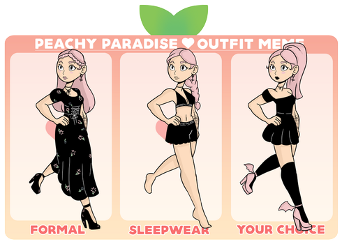 Peachy P  Outfit Meme: Avery by WytchHazel