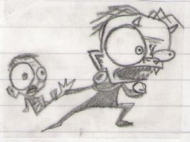 Squee and Pepito Sketch by bad-ass
