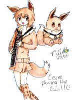 Eevee playing the Ewi! by MitsukiChan313