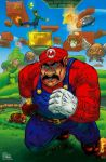 Super Mario Bros (pencils=me, colors=Luis Guerrero by fig